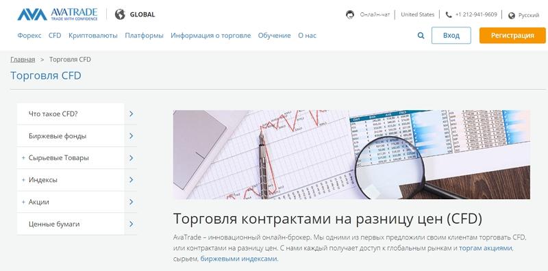 AvaTrade - сайт