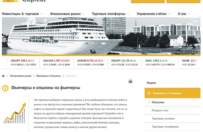 Renesourse Capital - сайт